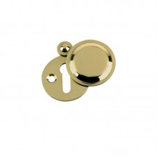 Standard Key Profile Covered Door Escutcheon 32mm PB