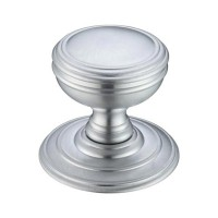 Mortice Door Knob on Round 70mm Rose SC