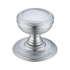 Fulton & Bray - Mortice Door Knob on Round 70mm Rose SC - FB305SC