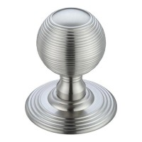 Ringed Mortice Door Knob on Round Rose 70mm Rose SC