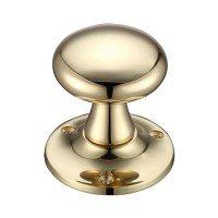 Mushroom Mortice Door Knob 60mm Rose PB