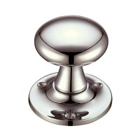 Mushroom Mortice Door Knob 60mm Rose PVDN