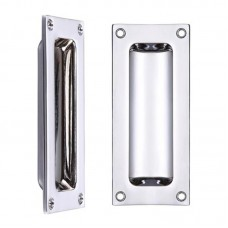 Flush Door Pull Rectangular 45 x 102mm CP