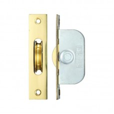 "Brass Ball Bearing Axle Window Pulleys Square 1 3/4"" PB"