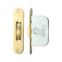 "Brass Ball Bearing Axle Window Pulleys Radius 2 1/4"" PB"