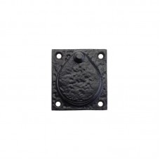"""Foxcote Foundries - Door Cylinder Cover 2.5"""" 55 x 64mm BK - FF09"""