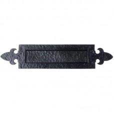 Foxcote Foundries - Fleur De Lys Door Letter Plate 368 x 76mm BK - FF35