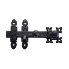 "Foxcote Foundries - Antique Style Door Latch 2.5 x 7.5""  BK - FF55"