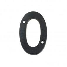 Door Numeral - '0' 102mm Black