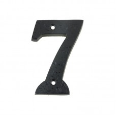 Foxcote Foundries - Door Numeral -  7  102mm Black - FFN07