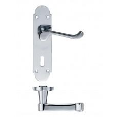 Zoo Hardware - Victorian Lever Lock Door Handle 42 x 168mm CP - PR011CP