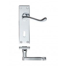Zoo Hardware - Rectangular Lever Lock Door Handle 40 x 150mm CP - PR021CP