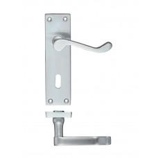 Rectangular Lever Lock Door Handle 40 x 150mm SC
