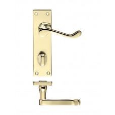 Zoo Hardware - Rectangular Lever Bathroom Door Handle 40 x 150mm EB - PR023EB