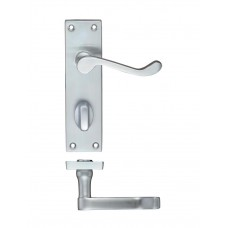 Zoo Hardware - Rectangular Lever Bathroom Door Handle 40 x 150mm SC - PR023SC