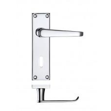 Zoo Hardware - Victorian Flat Lever Lock Door Handle 40 x 150mm CP - PR041CP