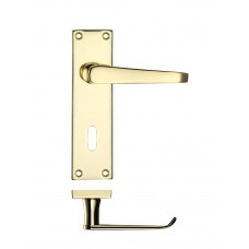 Zoo Hardware - Victorian Flat Lever Lock Door Handle 40 x 150mm EB - PR041EB