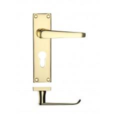 Victorian Flat Lever Euro Lock Door Handle 40 x 150mm EB