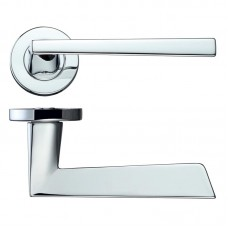 Rosso Maniglie - Lupus Door Handle Screw on Rose  CP - RM020CP