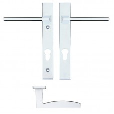 Pavo Euro Lock PZ92 Door Handle on Backplate CP