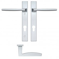 Pavo Euro Lock PZ92 Door Handle on Backplate SC