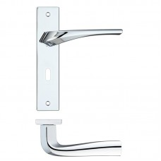 Rosso Maniglie - Aries  Lock Door Handle on Backplate CP - RM061CP
