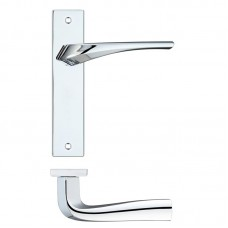 Rosso Maniglie - Aries  Latch Door Handle on Backplate CP - RM062CP