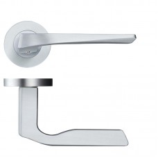 Rosso Maniglie - Lyra Door Handle Screw on Rose  SC - RM090SC
