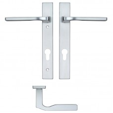 Rosso Maniglie - Vela Euro Lock PZ92 Door Handle on Backplate SC - RM12NP92SC