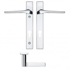 Rosso Maniglie - Draco Euro Lock PZ92 Door Handle on Backplate CP - RM13NP92CP