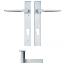 Rosso Maniglie - Draco Euro Lock PZ92 Door Handle on Backplate SC - RM13NP92SC