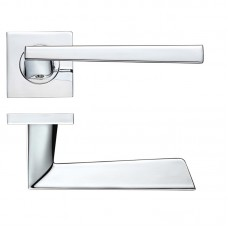 Rosso Maniglie - Lupus Door Handle on Square Rose CP - RMSQ020CP