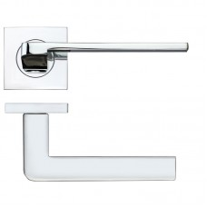 Rosso Maniglie - Maia Door Handle on Square Rose CP - RMSQ080CP