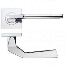 Auriga Door Handle on Square Rose CP