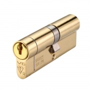 V6 Euro Door Cylinder Double 1 Star Kitemarked PB