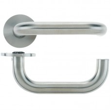 Vier - RTD Door Handle Push on Rose 19mm Dia. 304 SS - VS030