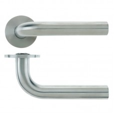 Radius Door Handle Push on Rose 21mm Dia. 304 SS