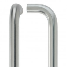 D' Shaped Door Pull Handle 21mm Dia. x 425mm 304 SS