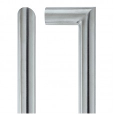 Mitred Door Pull Handle 21mm Dia. x 425mm 304 SS