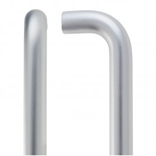 Zoo Hardware - D  Shaped Door Pull Handle 22 x 425mm + BB Fixings SA - ZAAD425CSABB