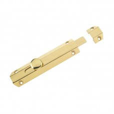 Zoo Hardware - Surface Door Bolt 150mm PB - ZAB100B