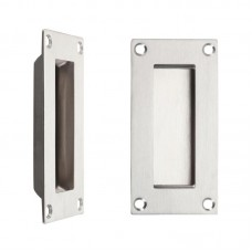 Flush Door Pull Rectangular 50 x 100mm SS