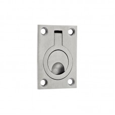 Cupboard Door Flush Ring Pull 44 x 62mm SS