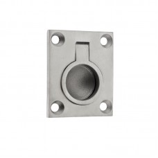 Cupboard Door Flush Ring Pull 38 x 48mm SS