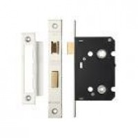 Bathroom Door Lock 64mm Case 44.5mm Bkst SS