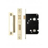 Bathroom Door Lock 64mm Case 44.5mm Bkst Gold PVD
