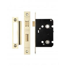 Bathroom Door Lock 64mm Case 44.5mm Bkst Gold PVD