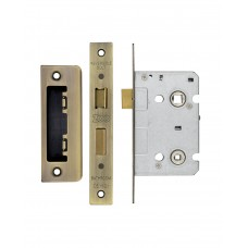 Bathroom Door Lock 64mm Case 44.5mm Bkst FB