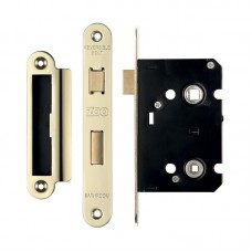 Bathroom Door Lock 64mm Case 44.5mm Bkst - Radius EB
