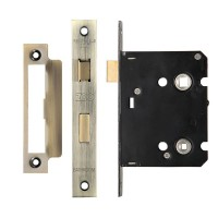 Bathroom Door Lock 76mm Case 57mm Bkst FB